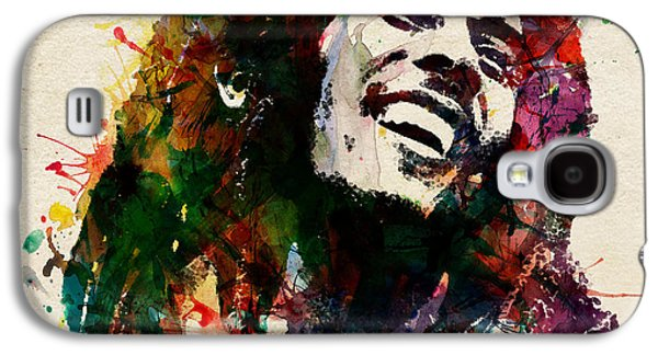 Smiling Mixed Media Galaxy S4 Cases - Bob Marley The King of Reggae Galaxy S4 Case by Marian Voicu