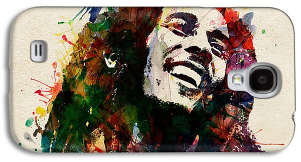 """""""square """" Mixed Media Galaxy S4 Cases - Bob Marley The King of Reggae Galaxy S4 Case by Marian Voicu"""