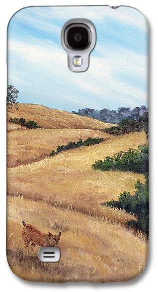Bobcats Galaxy S4 Cases - Bobcat at Rancho San Antonio Galaxy S4 Case by Laura Iverson