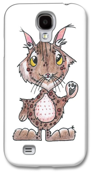 Bobcats Drawings Galaxy S4 Cases - Bobcat Friend Galaxy S4 Case by Rachel Huddleston