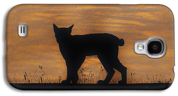 Bobcats Drawings Galaxy S4 Cases - Bobcat - Sunset Galaxy S4 Case by D Hackett