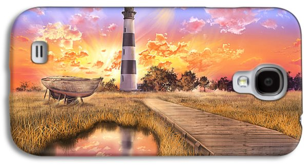 Sun Galaxy S4 Cases - Bodie Island Lighthouse Galaxy S4 Case by MB Art factory