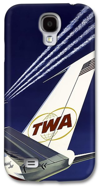 Boeing 707 Trans World Airlines C. 1960 Galaxy S4 Case by Daniel Hagerman