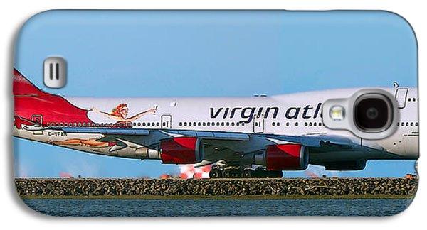 Boeing 747-4q8 Virgin Atlantic Lady Penelope At Sfo Galaxy S4 Case by Wernher Krutein