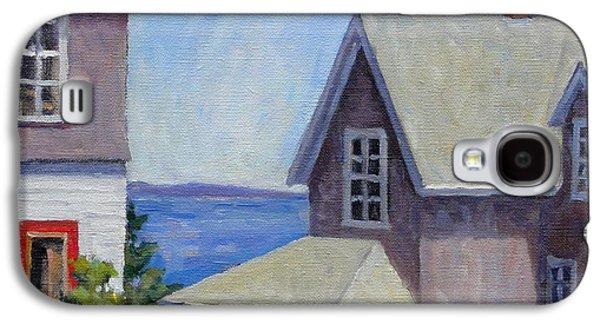 Old Maine Houses Galaxy S4 Cases - Bogdanov House Monhegan Galaxy S4 Case by Thor Wickstrom