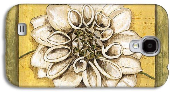 Flora Paintings Galaxy S4 Cases - Bohemian Dahlia 1 Galaxy S4 Case by Debbie DeWitt