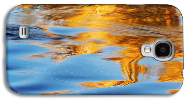 Abstracts Galaxy S4 Cases - Boise River Autumn Reflection abstract Galaxy S4 Case by Vishwanath Bhat
