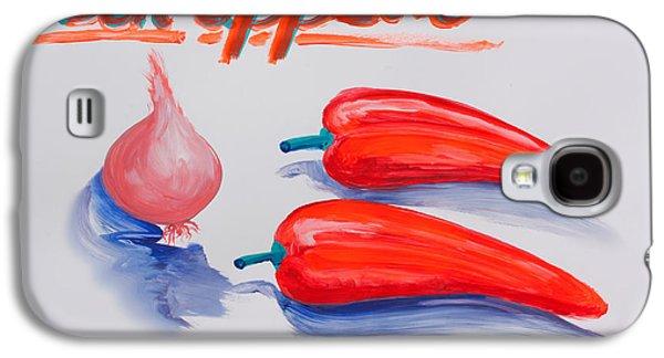 Drawing Galaxy S4 Cases - Bon Appetit Galaxy S4 Case by Stefan Schweihofer