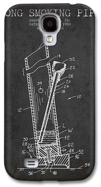 Bong Smoking Pipe Patent 1980 - Charcoal Galaxy S4 Case by Aged Pixel