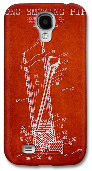 Joints Galaxy S4 Cases - Bong Smoking Pipe Patent 1980 - Red Galaxy S4 Case by Aged Pixel