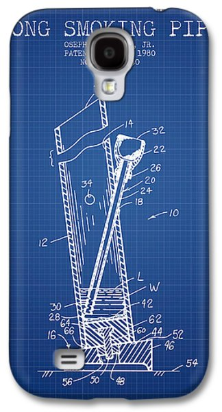 Bong Smoking Pipe Patent1980 - Blueprint Galaxy S4 Case by Aged Pixel