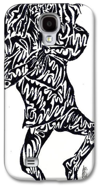 Abstract Digital Drawings Galaxy S4 Cases - Bongo Boy Galaxy S4 Case by Ashley Teeter