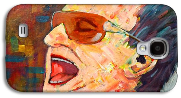 U2 Paintings Galaxy S4 Cases - Bono Galaxy S4 Case by Jim Mc Partlin