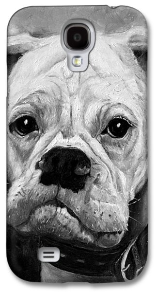 Boxer Paintings Galaxy S4 Cases - Boo the Boxer Galaxy S4 Case by Enzie Shahmiri
