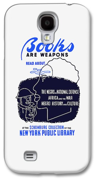 African-american Mixed Media Galaxy S4 Cases - Books Are Weapons - WPA Galaxy S4 Case by War Is Hell Store