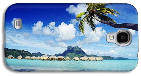 Overhang Photographs Galaxy S4 Cases - Bora Bora, Lagoon Resort Galaxy S4 Case by Himani - Printscapes