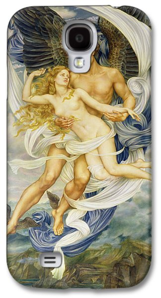 Boreas And Oreithyia Galaxy S4 Case by Evelyn De Morgan