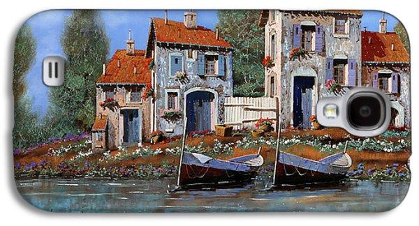 Fence Paintings Galaxy S4 Cases - Borgo Viola Galaxy S4 Case by Guido Borelli