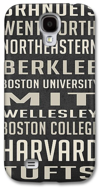 Boston Colleges Poster Galaxy S4 Case by Edward Fielding