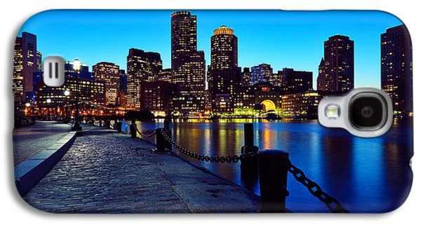 Landscape Photography Photographs Galaxy S4 Cases - Boston Harbor Walk Galaxy S4 Case by Rick Berk