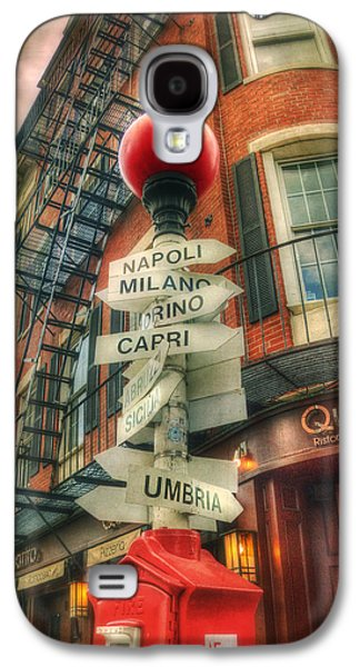Landmarks Photographs Galaxy S4 Cases - Boston North End Italian Cities Sign Galaxy S4 Case by Joann Vitali