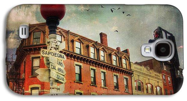 Landmarks Photographs Galaxy S4 Cases - Boston North End - VintageArt Galaxy S4 Case by Joann Vitali