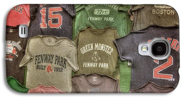 Red Sox Art Galaxy S4 Cases - Boston Red Sox Tee Shirts Art Galaxy S4 Case by Joann Vitali