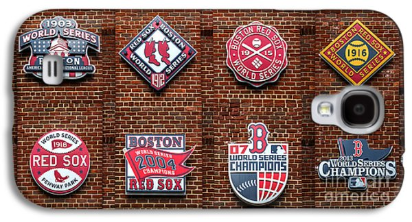 Red Sox Galaxy S4 Cases - Boston Red Sox World Series Emblems Galaxy S4 Case by Diane Diederich