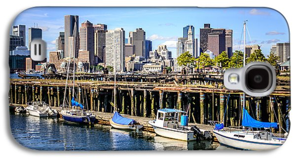 Boston Skyline At Piers Park Photo Galaxy S4 Case by Paul Velgos