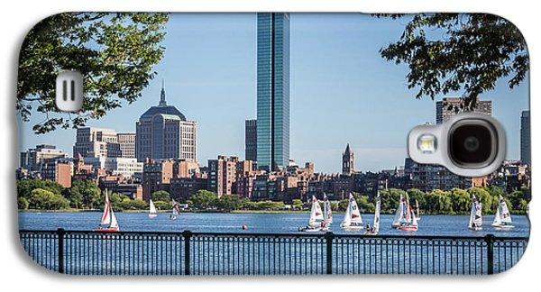 Boston Skyline Charles River Sailboats Photo Galaxy S4 Case by Paul Velgos