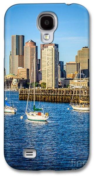 Boston Skyline Photo With Port Of Boston Galaxy S4 Case by Paul Velgos