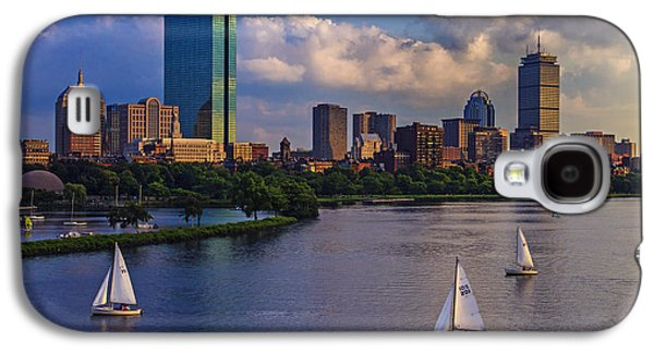 Sunset Galaxy S4 Cases - Boston Skyline Galaxy S4 Case by Rick Berk