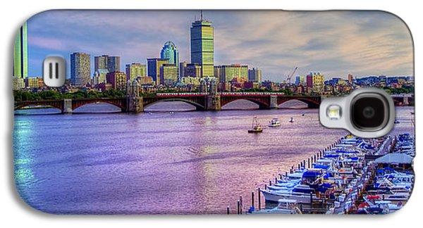 Transportation Photographs Galaxy S4 Cases - Boston Skyline Sunset Galaxy S4 Case by Joann Vitali