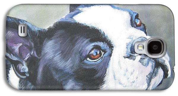 boston Terrier butterfly Galaxy S4 Case by Lee Ann Shepard