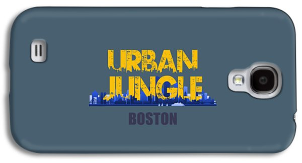 Boston Celtics Galaxy S4 Cases - Boston Urban Jungle Shirt Galaxy S4 Case by Joe Hamilton