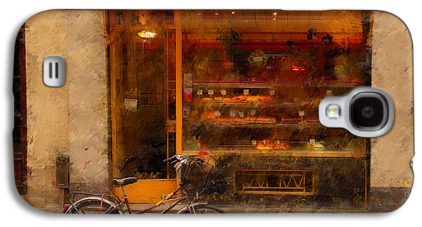 Boulangerie And Bike 2 Galaxy S4 Case by Mick Burkey