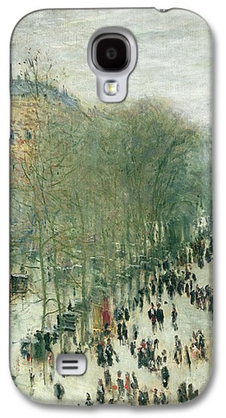 Street Paintings Galaxy S4 Cases - Boulevard des Capucines Galaxy S4 Case by Claude Monet