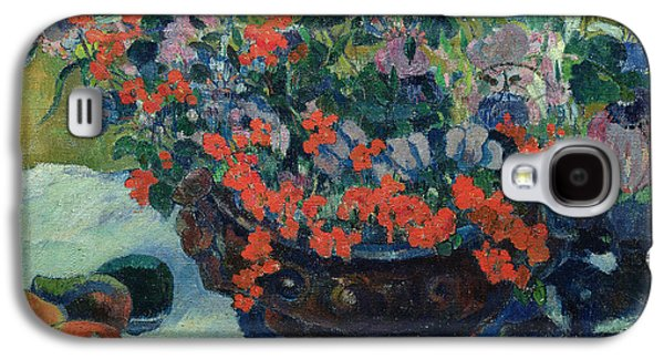 Bouquet Of Flowers Galaxy S4 Case by Paul Gauguin
