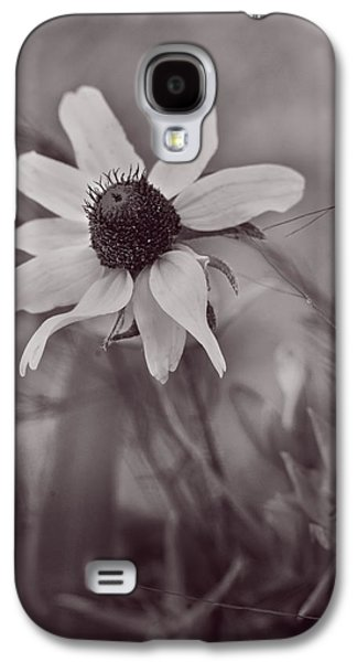 Nature Abstracts Galaxy S4 Cases - Bouquet of One - Monochrome by fleblanc Galaxy S4 Case by F Leblanc