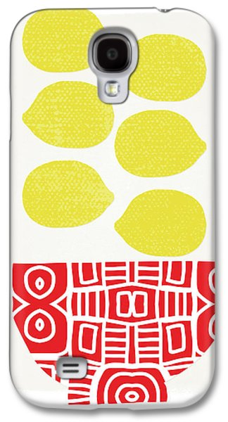 Bowl Of Lemons- Art By Linda Woods Galaxy S4 Case by Linda Woods