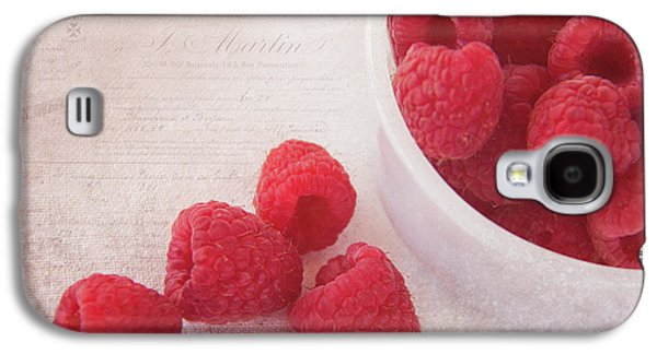 Bowl Of Red Raspberries Galaxy S4 Case by Cindi Ressler