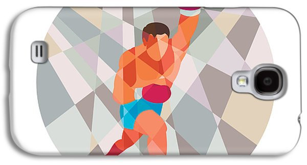 Boxer Boxing Punching Circle Low Polygon Galaxy S4 Case by Aloysius Patrimonio