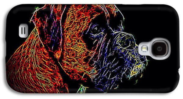 Boxer Galaxy S4 Cases - Boxer Dog Galaxy S4 Case by Alexey Bazhan
