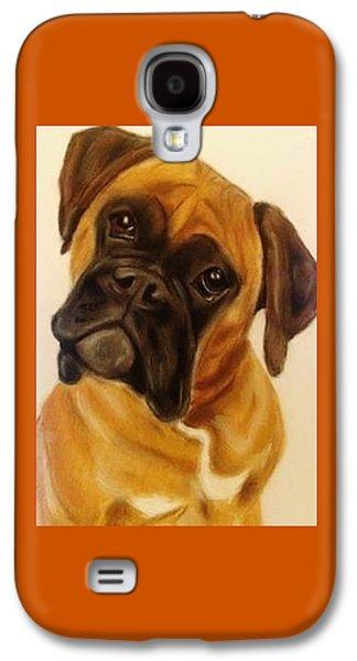 Boxer Galaxy S4 Cases - Boxer Dog Galaxy S4 Case by Diane Leuzzi