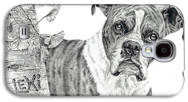 Boxer Drawings Galaxy S4 Cases - Boxer Dog Galaxy S4 Case by Elizabeth Sage