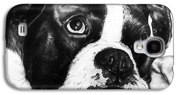 Boxer Drawings Galaxy S4 Cases - Boxer Dog Galaxy S4 Case by Sherri Mull