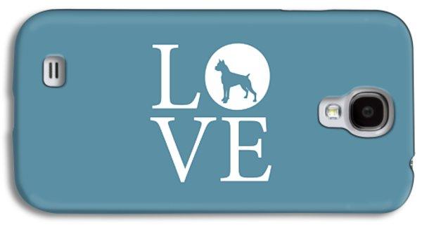 Boxer Love Galaxy S4 Case by Nancy Ingersoll