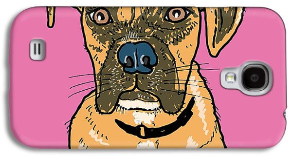 Boxer Drawings Galaxy S4 Cases - Boxer Galaxy S4 Case by Pets Portraits