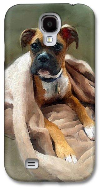 Boxer Galaxy S4 Cases - Boxer Portrait Galaxy S4 Case by Enzie Shahmiri