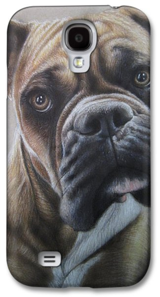 Boxer Galaxy S4 Cases - Boxer portrait Galaxy S4 Case by Jonathan Anderson